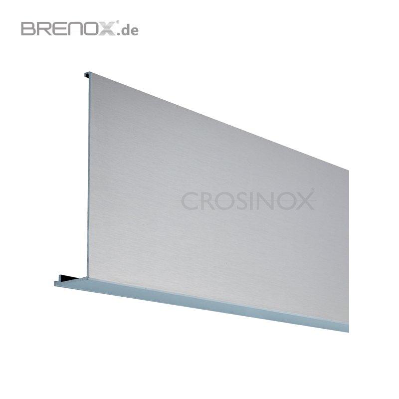 abdeckprofil croso system 1 0 gerade f r vorgesetzte bodenprofile eloxiert edelstahloptik. Black Bedroom Furniture Sets. Home Design Ideas