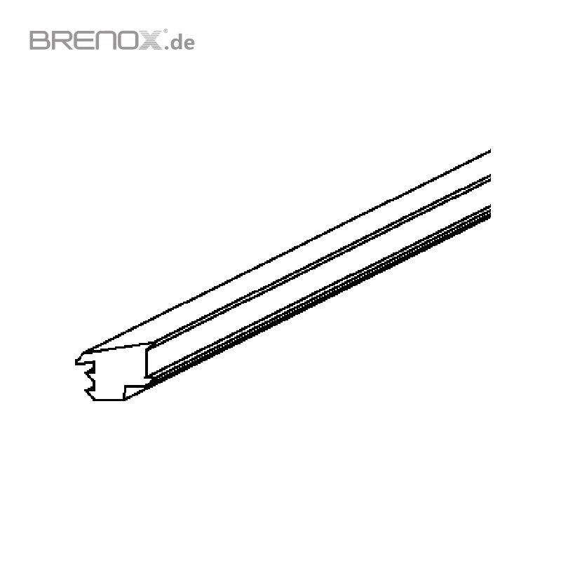abschlussdichtung f r bodenprofile f r 20 76 21 52 mm gl. Black Bedroom Furniture Sets. Home Design Ideas