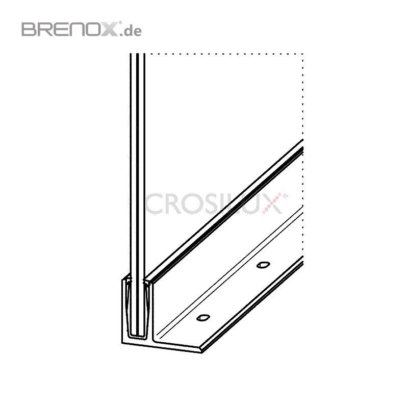 bodenprofil set 2 crosilux 1 0 f r ganzglasgel nder im o. Black Bedroom Furniture Sets. Home Design Ideas