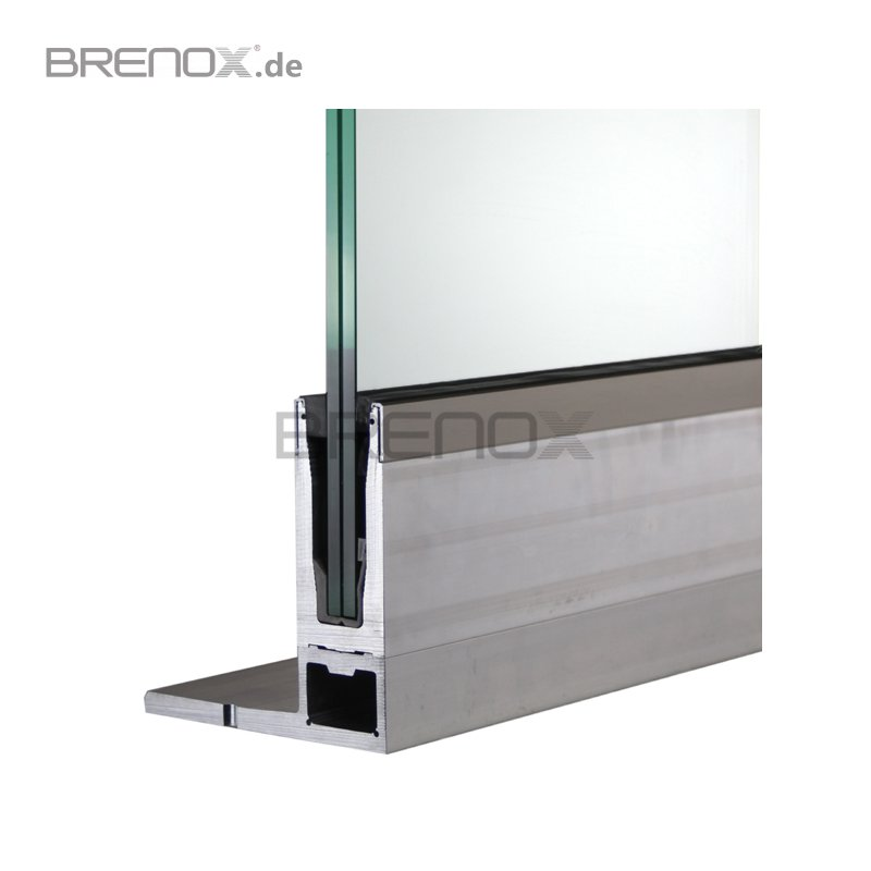 bodenprofil set 6 crosilux 2 0 f r ganzglasgel nder f fo. Black Bedroom Furniture Sets. Home Design Ideas