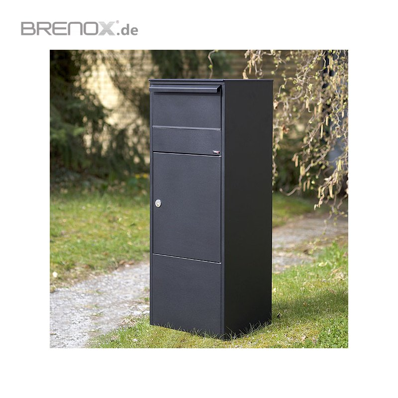 paketbriefkasten allux 800 mit flachdach 219 87. Black Bedroom Furniture Sets. Home Design Ideas