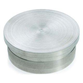 Endkappe, flach, für Ø 42,4 x 2 mm, V2A Edelstahl geschliffen