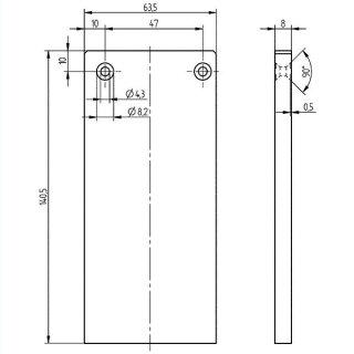 Endkappe  Serie 20, 63,5 x 140 mm, Aluminium