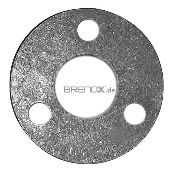 Wandbefestigung V2A geschliffen für Rohr 42,4 mm Platte 100x6 mm