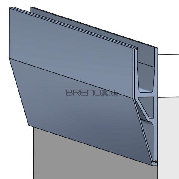 abdeckprofil crosilux system 1 0 mit schr ge f r vorgeset. Black Bedroom Furniture Sets. Home Design Ideas
