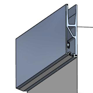 Abdeckprofil Serie 10, für LED-Beleuchtung, für vorgesetzte Bodenprofile