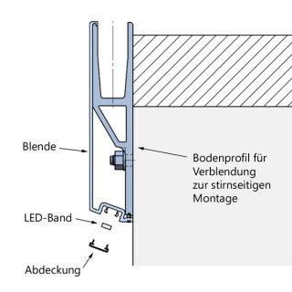 abdeckprofil crosilux system 1 0 f r led beleuchtung f r vorgesetzt 53 37. Black Bedroom Furniture Sets. Home Design Ideas