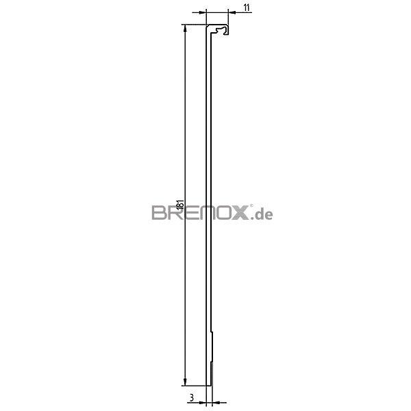 abdeckprofil serie 20 f r bodenprofile 2 und 6 181 mm aluminium si 28 82. Black Bedroom Furniture Sets. Home Design Ideas