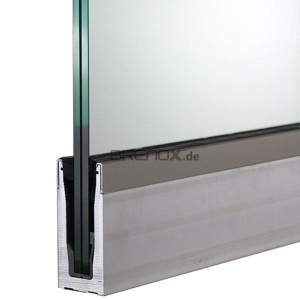 bodenprofil set 1 crosilux 2 0 f r ganzglasgel nder aufgesetzt 118 48. Black Bedroom Furniture Sets. Home Design Ideas