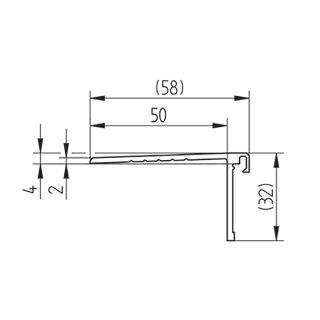 Abdeckprofil Serie 20, für alle Bodenprofile, 32 mm, Bodenauschluss flach