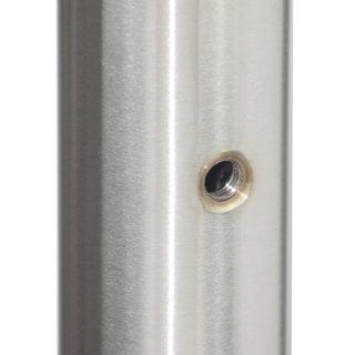 Geländerpfosten für Plattenhalter, M6-Gewinde, vorgesetzt, V2A Edelstahl geschliffen