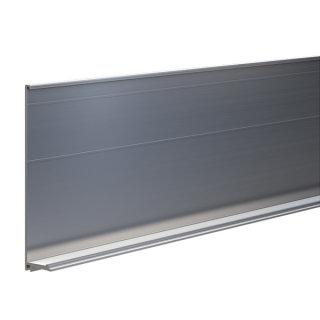 Abdeckprofil Serie 20, für Bodenprofil 8, 309 mm, mit Entwässerung, Aluminium