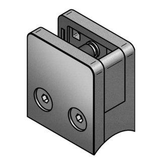 Halter für Glasscheiben V4A Edelstahl, 45 x 45 mm