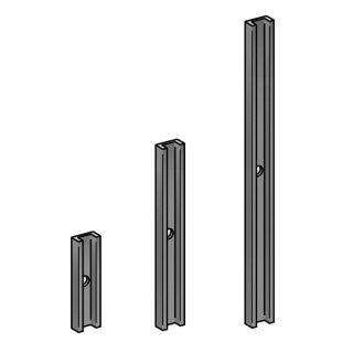 Abstandhalter Aluminium für vorgesetzte Bodenprofile Ganzglasgeländer