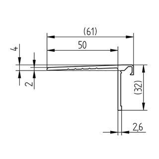 Abdeckprofil Serie 20 Light, für alle Bodenprofile, 32 mm, Bodenauschluss flach