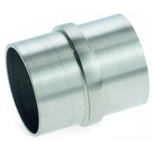 Verbinder für Rundrohre Ø 42,4 x 2 mm, V2A Edelstahl geschliffen