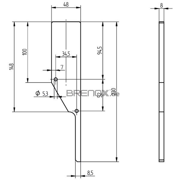 endkappe serie 10 f r vorgesetzte bodenprofile 23 82. Black Bedroom Furniture Sets. Home Design Ideas