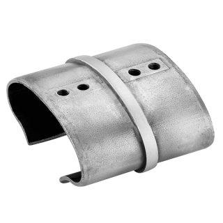 Verbinder für ovale Nutrohre, V4A Edelstahl geschliffen