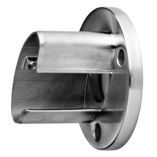 Wandanker für ovale Nutrohre 80 x 40 x 1,5 mm, V4A Edelstahl