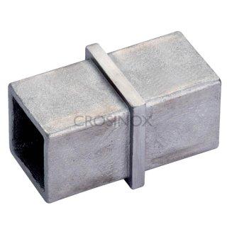 Verbinder für Vierkantrohre, V4A Edelstahl geschliffen, 20x20, 25x25, 30x30 & 40x40mm