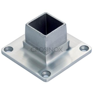 Edelstahl V4A geschliffen Endkappe Vierkant Quadratrohr 30x30 40x40 50x50 60x60