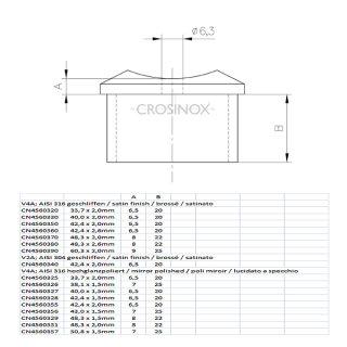 Adapter 90° / Handlaufträger für Rundrohre, Edelstahl