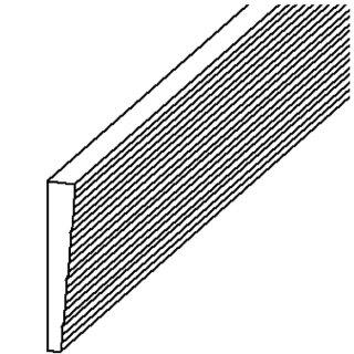 Keildichtung für Bodenprofile Serie 10, L = 100mm